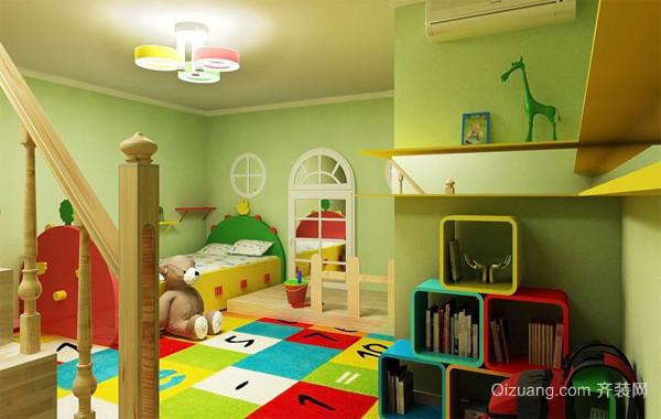 2016大户型时尚风格儿童房设计装修效果图