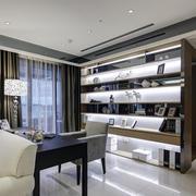 都市三居室家庭开放式书房装修效果图