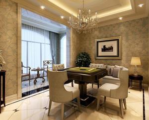 欧式奢华别墅私人棋牌室装修效果图
