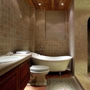 美式别墅卫生间瓷砖装饰
