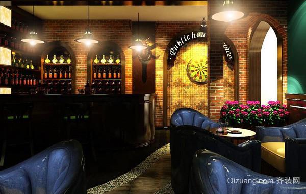 138平米欧式奢华风格酒吧装修效果图