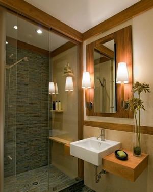 138平米美式别墅卫生间装修效果图