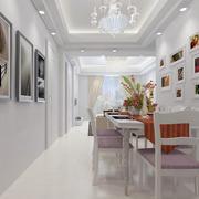 纯色调餐厅效果图片