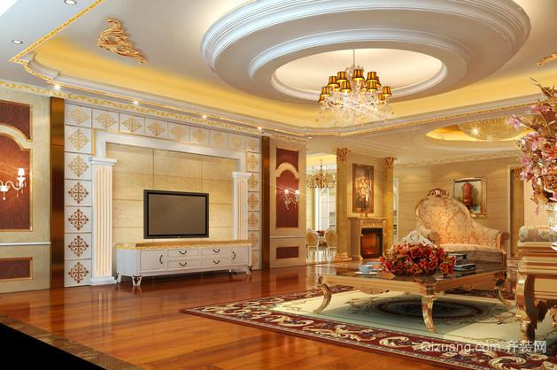 100平米线条形欧式家装客厅效果图