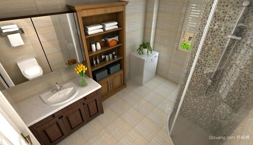 现代100平米单身公寓浴室置物架装修图片