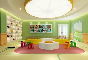 清新小户型幼儿园教室塑胶地垫装修图