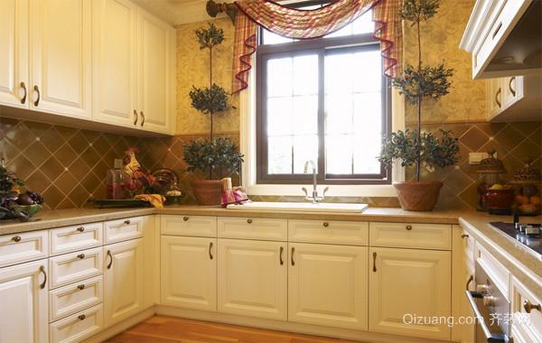 120平米大户型欧式唯美的厨房吊顶装修效果图
