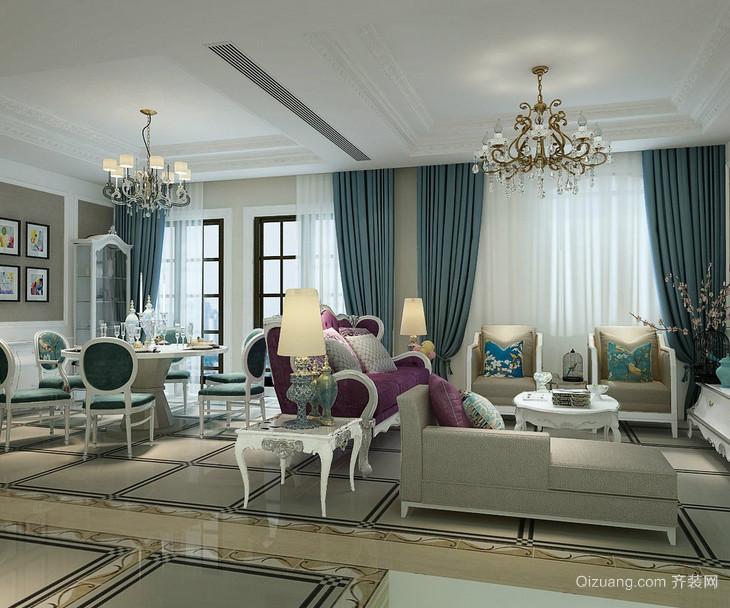 80平米小户型欧式客厅窗帘装修效果图鉴赏