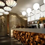 现代时尚的欧式大户型欧式餐厅吧台装修效果图