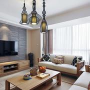 美式别墅客厅创意灯饰装饰