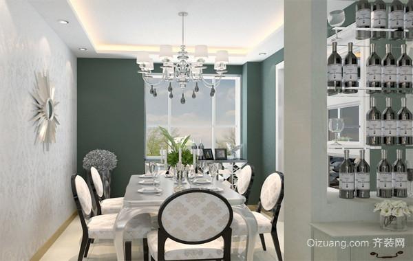 2016精美的大户型宜家简欧风格餐厅装修效果图