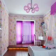 紫色调儿童房效果图