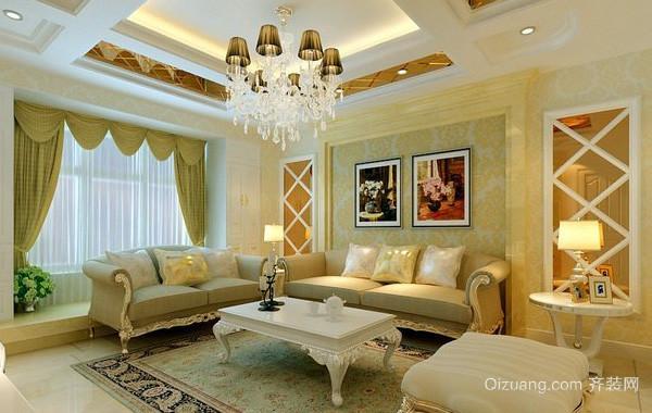 内敛奢华大型别墅简欧风格客厅装修效果图