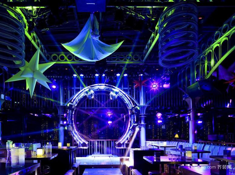 酷炫现代酒吧灯光装修装饰设计效果图