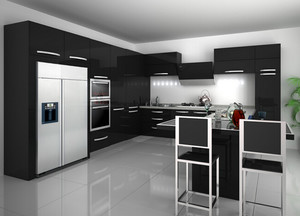 两室一厅后现代风格厨房橱柜装修效果图