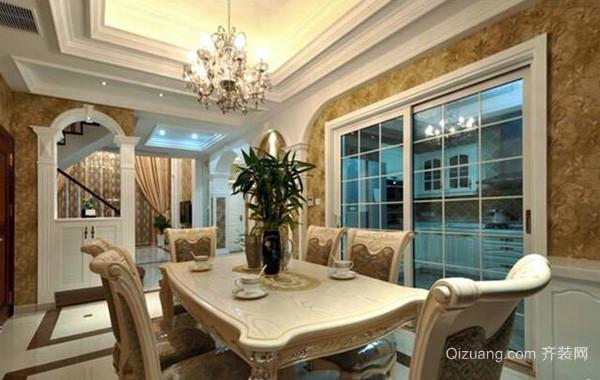 180平米大型法式浪漫奢华风格餐厅装修设计