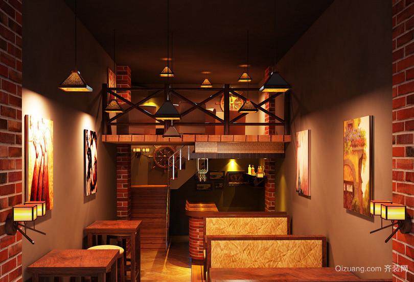 深色调主题酒吧设计装修效果图