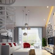 120平米现代简约风格阁楼客厅装修效果图