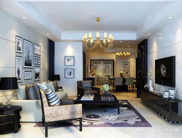 三室一厅后现代风格精致客厅装修效果图
