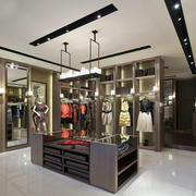 现代精美小型女服装店装修效果图