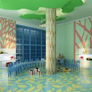 幼儿园轻快风格背景墙装饰