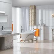 唯美精致的大户型现代欧式浴室室内装修效果图