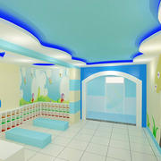 幼儿园浅色系墙饰装饰