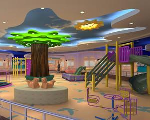高级大户型幼儿园室内塑胶地垫装修图