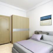 2016简约风40平米小户型卧室精装效果图