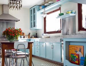 三室一厅美式简约风格厨房装修效果图