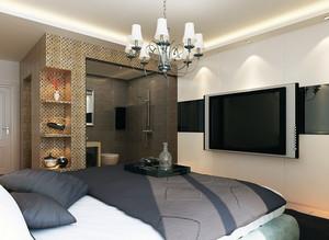 90平米大户型经典的简欧卧室电视墙背景效果图