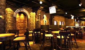 复古主题酒吧装修装饰设计效果图