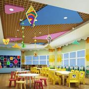 大型幼儿园手工教室背景墙装饰