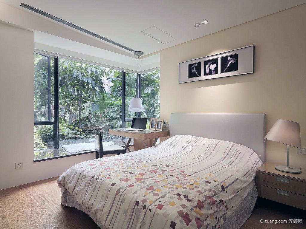 40平米简欧风格清爽系小户型卧室装修图