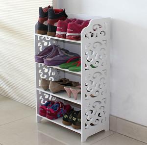 现代时尚小户型家用白色鞋架图片