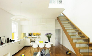 120平米自然风格室内楼梯设计效果图