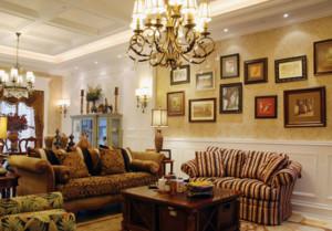 2016完美时尚大户型家居客厅壁纸装修效果图