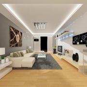 大气简约120平米家装客厅效果图片大全