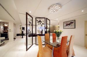 时尚133平米家居客厅屏风隔断设计图
