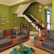 110平米家用室内楼梯设计效果图