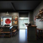 火锅店地板砖效果图