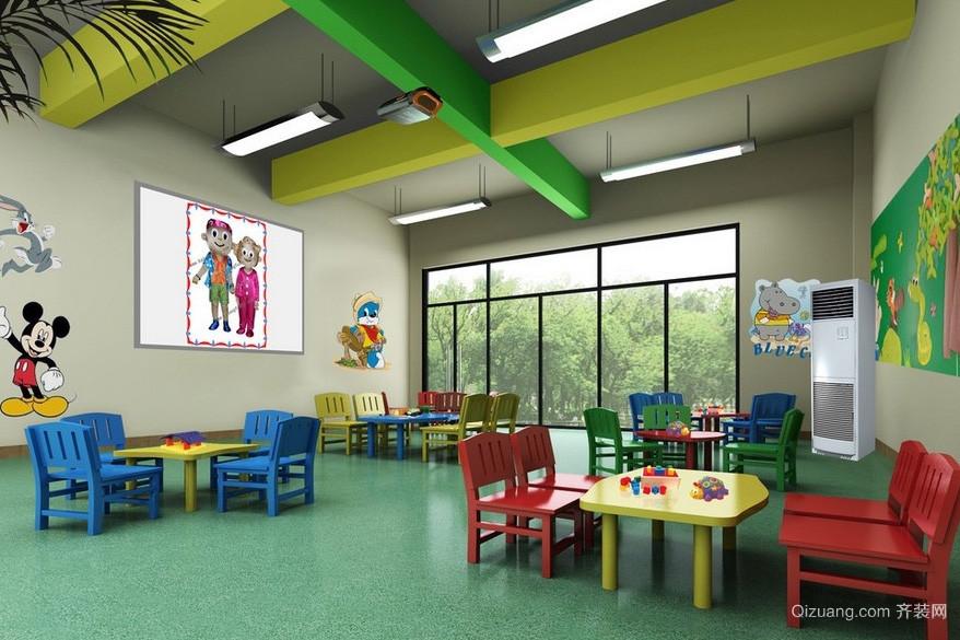 简约小型幼儿园班级教室布置图片