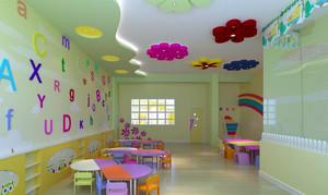 轻快可爱幼儿园班级教室布置图片