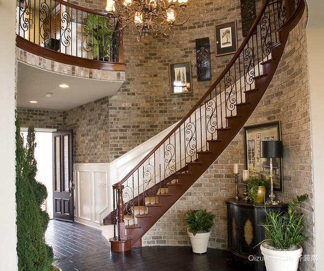 大户型时尚风格室内楼梯设计效果图