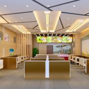 2016完美都市现代快餐店吊顶装修效果图