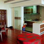 两房一厅木地板图片