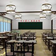 中式风格小学书法班级教室布置图片