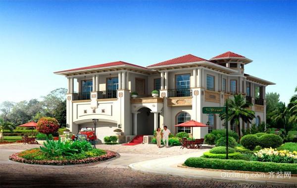 2016精美的现代农村别墅设计装修效果图纸