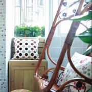 趣味乡村8㎡小型阳台装修效果图