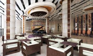 都市五星级大酒店大堂设计效果图